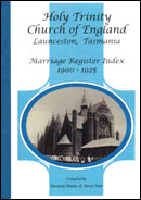 Holy Trinity Marriages 1900-1925